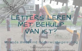 Letters leren met behulp van ICT?