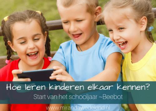 Start van het schooljaar: hoe leren kinderen elkaar kennen (met de Beebot)