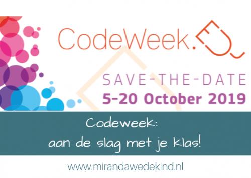 Vandaag begint de codeweek!