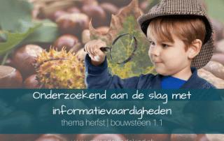 Onderzoekend aan de slag met informatievaardigheden | thema herfst