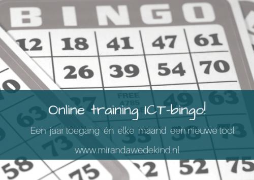 Online leeromgeving: ICT-bingo