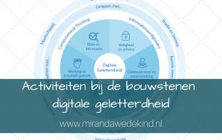Bouwstenen curriculum digitale geletterdheid, gekoppeld aan activiteiten
