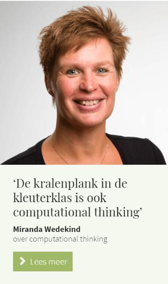 InterviewTaal & computational thinking: 'De kralenplank in de kleuterklas is ook computational thinking'