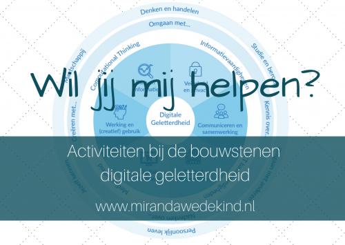 Wil jij mij helpen? Activiteiten bij de bouwstenen digitale geletterdheid
