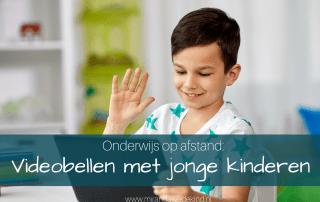 Onderwijs op afstand: videobellen met jonge kinderen