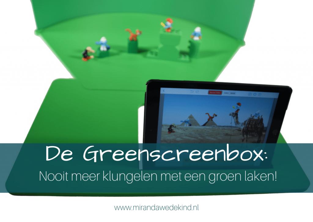 De Greenscreenbox: nooit meer klungelen met een groen laken