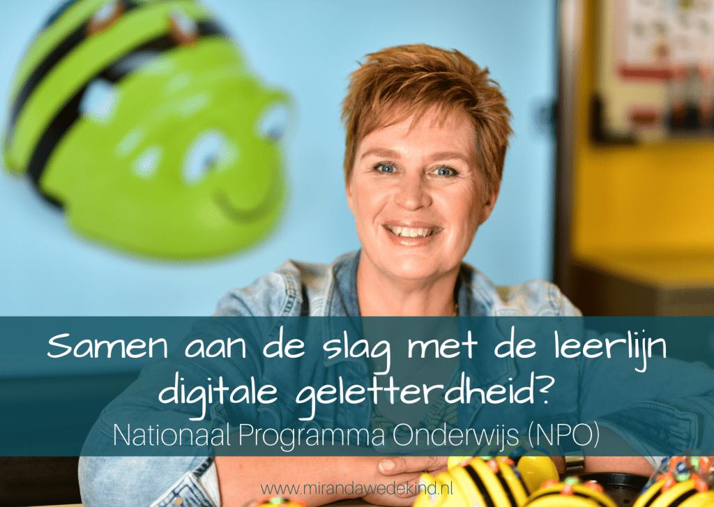 Samen aan de slag met digitale geletterdheid? - Nationaal Programma Onderwijs (NPO)