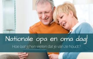 Nationale opa en oma dag- Hoe laat jij weten dat je van ze houdt?