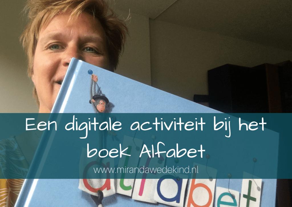 Een digitale activiteit bij het boek Alfabet- Een fotospeurtocht