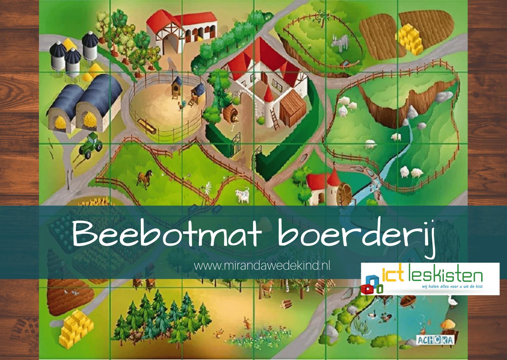 Beebotmat boerderij van stof