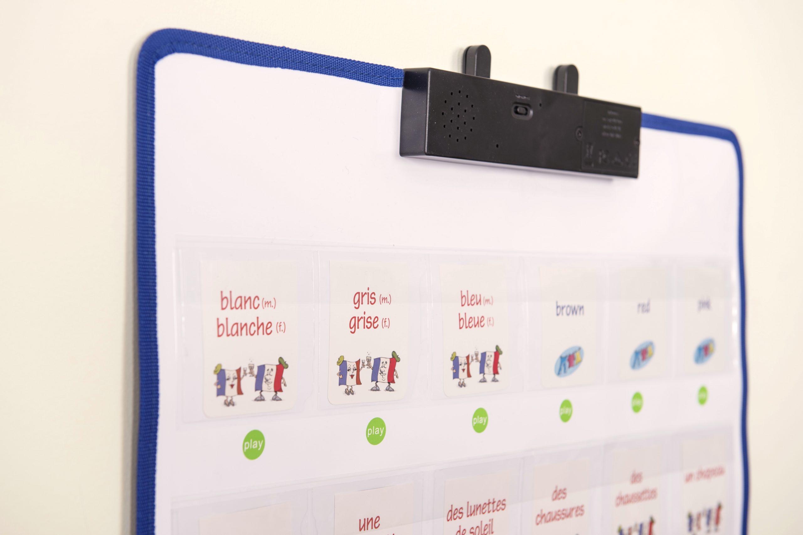 Instructies inspreken met de interactive wall