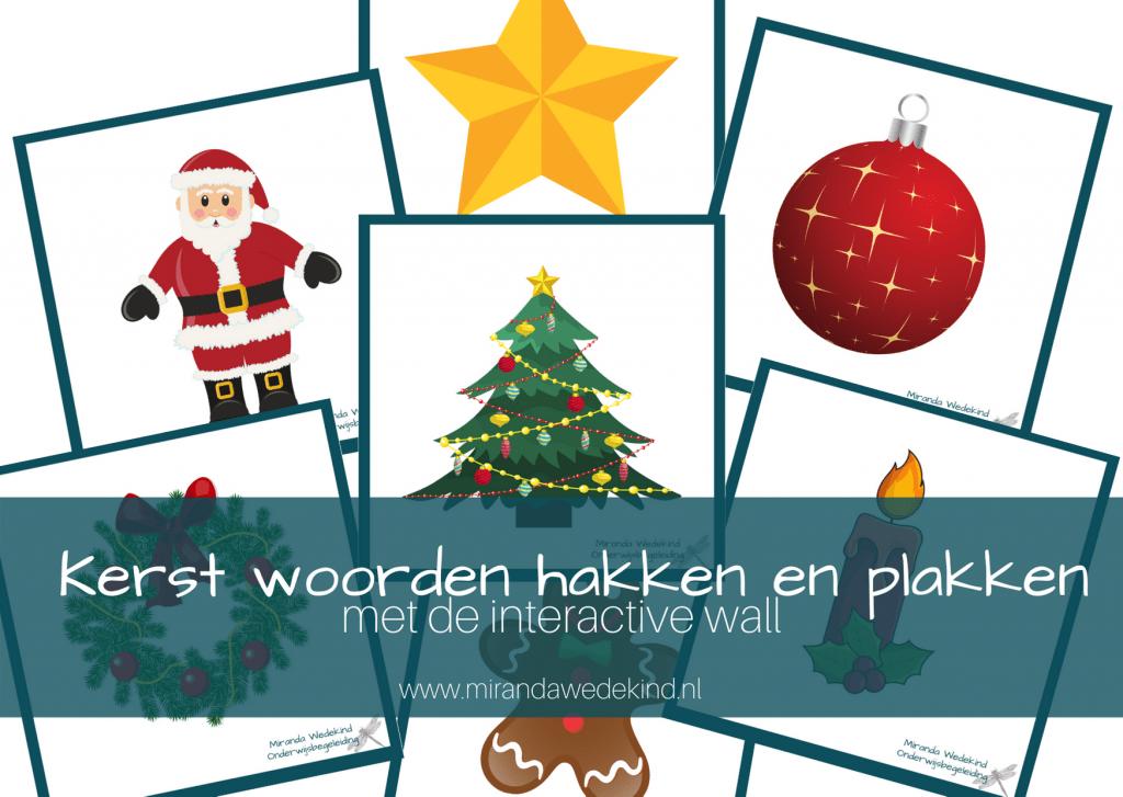 Kerst woorden hakken en plakken met de interactive wall