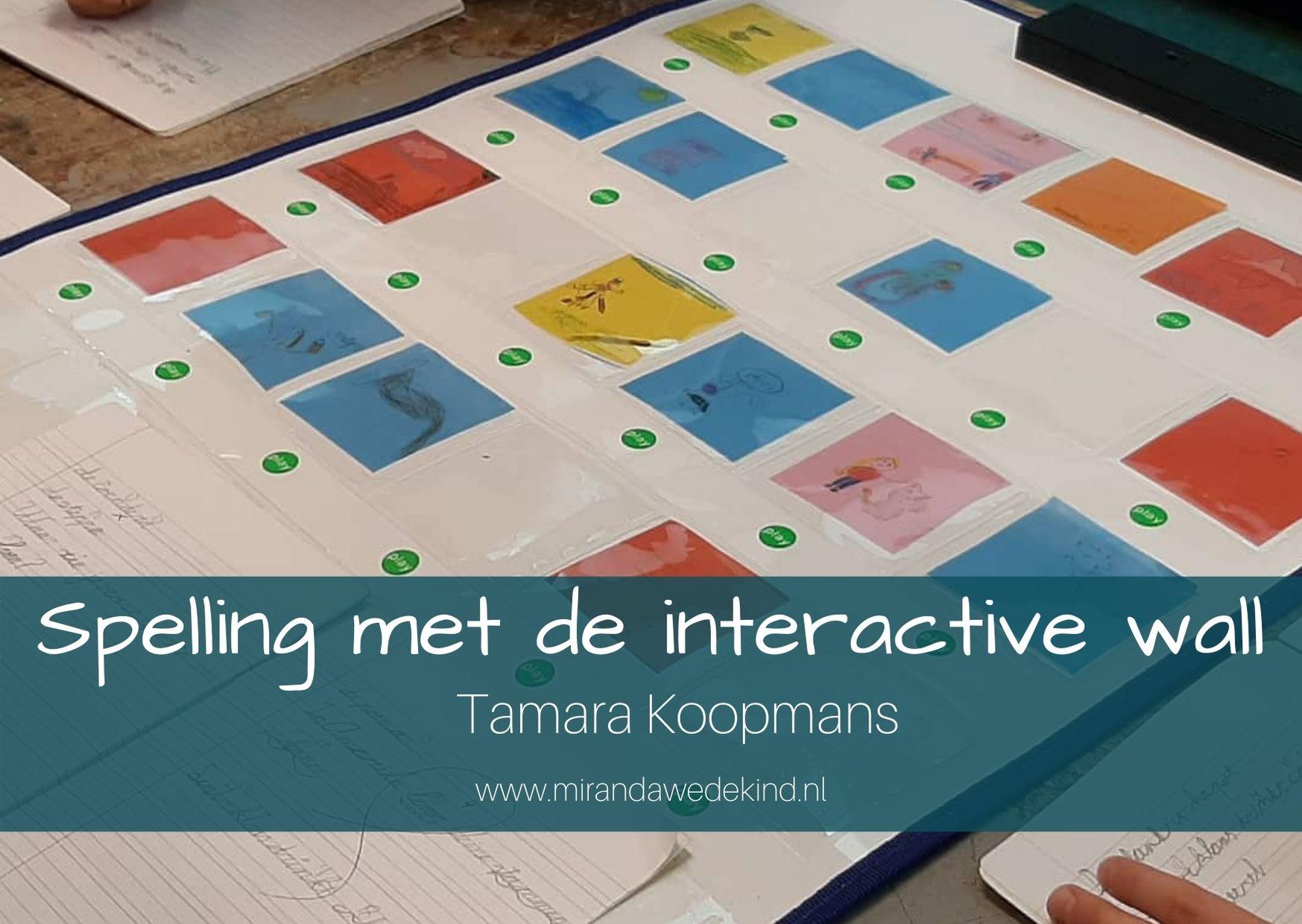 Spelling met de interactive wall