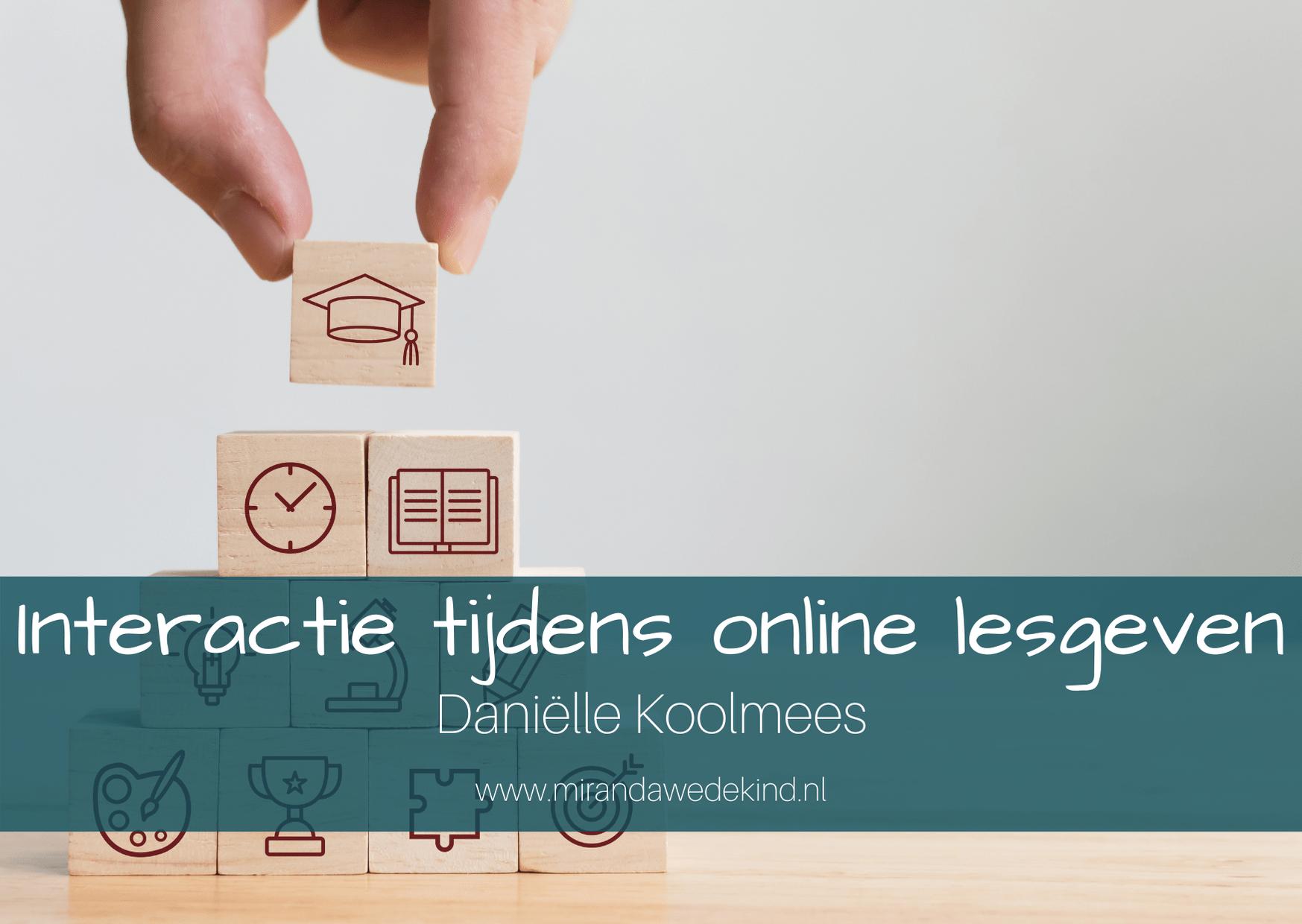 Onderwijs op afstand: Interactie tijdens online lesgeven