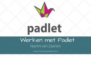 Onderwijs op afstand: Werken met Padlet