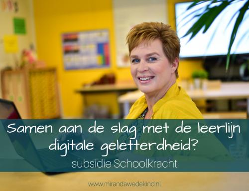 Samen aan de slag met de leerlijn digitale geletterdheid? – subsidie Schoolkracht