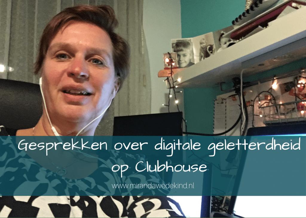 Gesprekken over digitale geletterdheid op Clubhouse