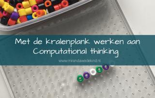 Met de kralenplank werken aan Computational thinking