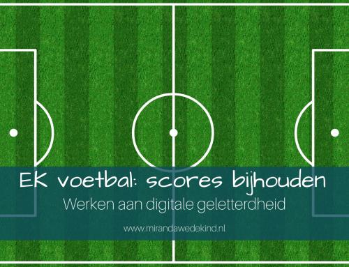 EK voetbal: scores bijhouden- Werken aan digitale geletterdheid