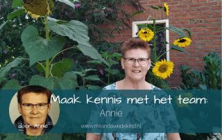 Maak kennis met het team: Annie
