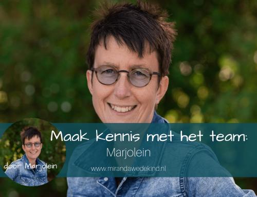 Maak kennis met het team: Marjolein