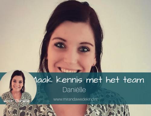 Maak kennis met het team: Daniëlle