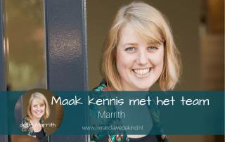 Maak kennis met het team: Marrith