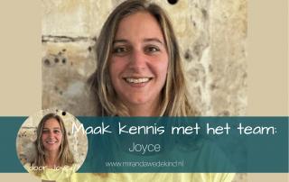 Maak kennis met het team-Joyce