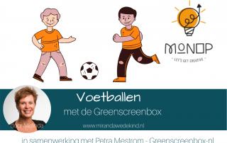 Voetballen met de Greenscreenbox