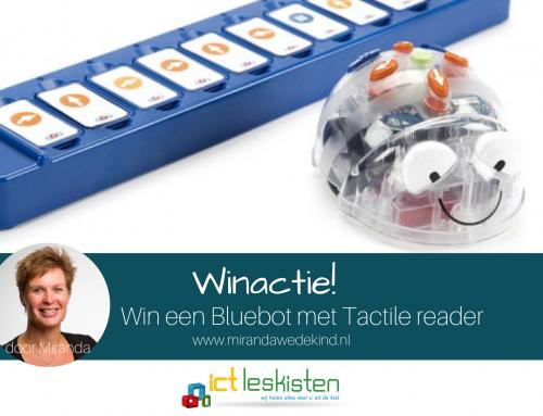 Winactie – Win een Blue-Bot met TacTile reader